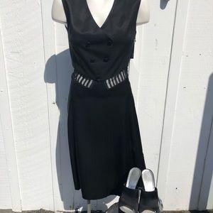 Marc Jacobs vintage black silk dress Sz 8